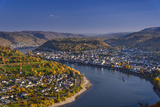 Germany, Rhineland-Palatinate, Upper Middle Rhine Valley, Boppard, Rhine Loop East Part Photographic Print by Udo Siebig