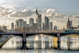 Germany, Hesse, Frankfurt on the Main, Skyline, Selective Focus Photographic Print by Bernd Wittelsbach