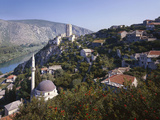 Bosnia, Pocitelj, Mosque, Fortress Photographic Print by  Thonig
