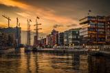 Germany, Hamburg, Hafencity, Magellan Terrassen, Sandtorkai, Sandtorhafen Photographic Print by Ingo Boelter