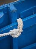 Rope, Boat, Blue, Wood, Up, Detail Photographic Print by Andrea Haase