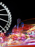 Cathedral, Carousel, Amusement Ride, Motion, Dynamic Photographic Print by Axel Schmies