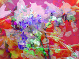 Photographic Layer Work from Poenies in Water with Spring Blossom Ornaments Photographic Print by Alaya Gadeh