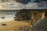 France, Brittany, Morbihan, Peninsula Quiberon, Rock Gatein the C™te Sauvage Photographic Print by Andreas Keil