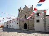 Italy, Sardinia, Pozzomaggiore, Chiesa Madonna Della Salute, Pendant Garlands Photographic Print by Brigitte Protzel