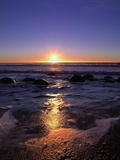 Coast, Sea, Rocks, Sunrise Photographic Print by  Thonig