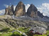 Tre Cime Di Lavaredo (Three Merlons), Meadow, South Tyrol Photographic Print by Rainer Mirau