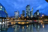 Frankfurt, Hesse, Germany, View at the Financial District with Taunusanlage Photographic Print by Bernd Wittelsbach