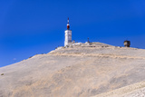 France, Provence, Vaucluse, Malaucne, Mont Ventoux, Summit with Transmitting Station Fotoprint van Udo Siebig