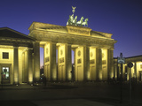 Germany, Berlin, Mitte, Pariser Platz, the Brandenburg Gate, Early Classicism, Dusk Photographic Print by Andreas Keil