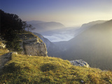 Switzerland, Swiss Jura, Creux Du Van, View from the Edge of the Creux Du Vans Photographic Print by Andreas Keil