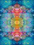 A Mandala Ornament from Flower Photographs, Conceptual Layer Work Reprodukcja zdjęcia autor Alaya Gadeh