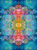 A Mandala Ornament from Flower Photographs, Conceptual Layer Work Photographic Print by Alaya Gadeh