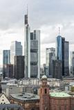 Germany, Hesse, Frankfurt Am Main, Skyline with St Paul's Church Photographic Print by Bernd Wittelsbach