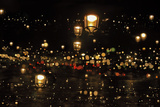 Street Lights in the Night, Abstract, Paris, France Photographic Print by  Skaya