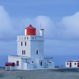 Lighthouse at the Cape Gardar, Vik, South Iceland, Iceland Photographic Print by Rainer Mirau