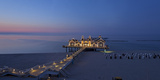 Europe, Germany, Mecklenburg-Western Pomerania, Baltic Sea Island, RŸgen, Sellin, Pier, Dusk Photographic Print by Chris Seba