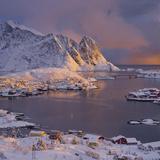 Reine' (Village), Lilandstinden, Moskenesoya (Island), Lofoten, 'Nordland' (County), Norway Photographic Print by Rainer Mirau