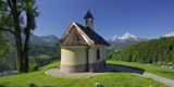 Chapel in the Lockstein, Berchtesgaden, Watzmann, Berchtesgadener Land District, Bavaria, Germany Photographic Print by Rainer Mirau