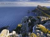 Spain, Majorca, Formentor Peninsula, Rock, the Mediterranean Sea Photographic Print by Rainer Mirau