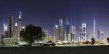 Dubai, Skyline at Night, Dubai Marina, United Arab Emirates Photographic Print by Axel Schmies