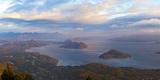 Argentina, Patagonia, Lake Lago Nahuel Huapi, View from the Mountain Cerro Don Otto, Sunrise Photographic Print by Chris Seba