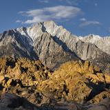 Tunnabora Peak, Mount Whitney, Alabama Hills, Near Lone Pine, Sierra Nevada, California, Usa Photographic Print by Rainer Mirau