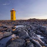 Lighthouse of Stafnes, Reykjanes (Headland), Iceland Photographic Print by Rainer Mirau