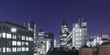 Panorama, City of London, Swiss-Re-Tower, 30 St. Mary Axe, England, Great Britain Photographic Print by Axel Schmies