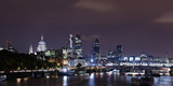 London, Skyline with St Paul's Cathedral, the Thames, at Night, London, England, Uk Photographic Print by Axel Schmies