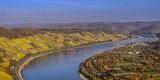 Germany, Rhineland-Palatinate, Upper Middle Rhine Valley, Boppard, Rhine Loop West Part Fotoprint van Udo Siebig