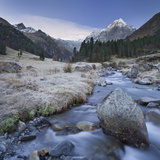 Austria, Tyrol, LŸsenstal, LŸsens, LŸsenser Fernerkogel, Melbach Photographic Print by Rainer Mirau