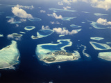 Maldives, South Male Atoll, Islands, Biadu, Guraidhoo, Kandooma, Vilivaru Photographic Print by  Thonig