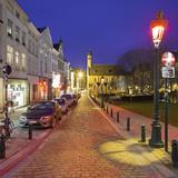 Belgium, Brussels, Rue De La Madelaine, Street, Eglise Sainte Marie-Madeleine, Night Photographic Print by Rainer Mirau