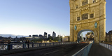 Tower Bridge across the Thames, Traffic, Dusk, London, England, Uk Photographic Print by Axel Schmies