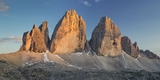 Tre Cime Di Lavaredo (Three Merlons), South Tyrol, the Dolomites Mountains, Italy Photographic Print by Rainer Mirau