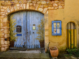 France, Provence, Vaucluse, Roussillon, Old Town, House Facade, House Gate, Mural Painting Photographic Print by Udo Siebig
