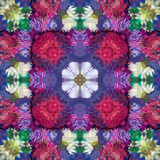Symmetric Ornament from Multicolor Blossoms Photographic Print by Alaya Gadeh