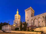 France, Provence, Vaucluse, Avignon, Place Du Palais, Papal Palace, Cathedral Notre Dame Photographic Print by Udo Siebig