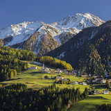 St. Oswald, Puster Valley, Tirol, Gailtal, Carnic Alps, East Tyrol, Tyrol, Austria Photographic Print by Rainer Mirau