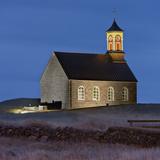 Hvalneskirkja in the Dusk, Reykjanes (Headland), Iceland Photographic Print by Rainer Mirau