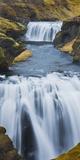 Waterfall Flow Skoga, South Iceland, Iceland Photographic Print by Rainer Mirau