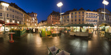 Austria, Styria, Graz, Main-Place, Frontage, Market-Stands, Evening-Mood Photographic Print by Rainer Mirau