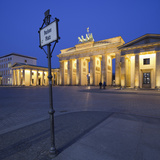 Germany, Berlin, Pariser Platz (Square), the Brandenburg Gate, Night Photographic Print by Rainer Mirau