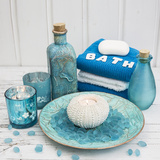 Still Life with Turquoise Objects, Symbol Wellness Photographic Print by Andrea Haase