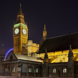 Westminster Palace, Big Ben, at Night, London, England, Great Britain Photographic Print by Rainer Mirau