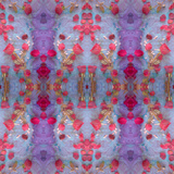 Symmetrical Photomontage of Red Roses and Floral Ornaments Photographic Print by Alaya Gadeh