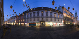 Austria, Styria, Graz, Herrengasse, Frontage, Evening-Mood, Panorama Photographic Print by Rainer Mirau