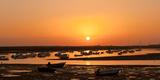 Portugal, Algarve, Ria Formosa Coast, Fishing Boats, Sunset Photographic Print by Chris Seba