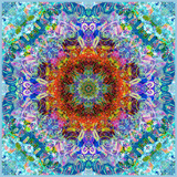 A Flower Mandala, Photographic Layer Work from a Painting Photographic Print by Alaya Gadeh